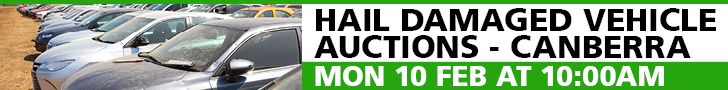 Hail Damaged Vehicle Auctions - Canberra - Monday 10 February at 10.00AM